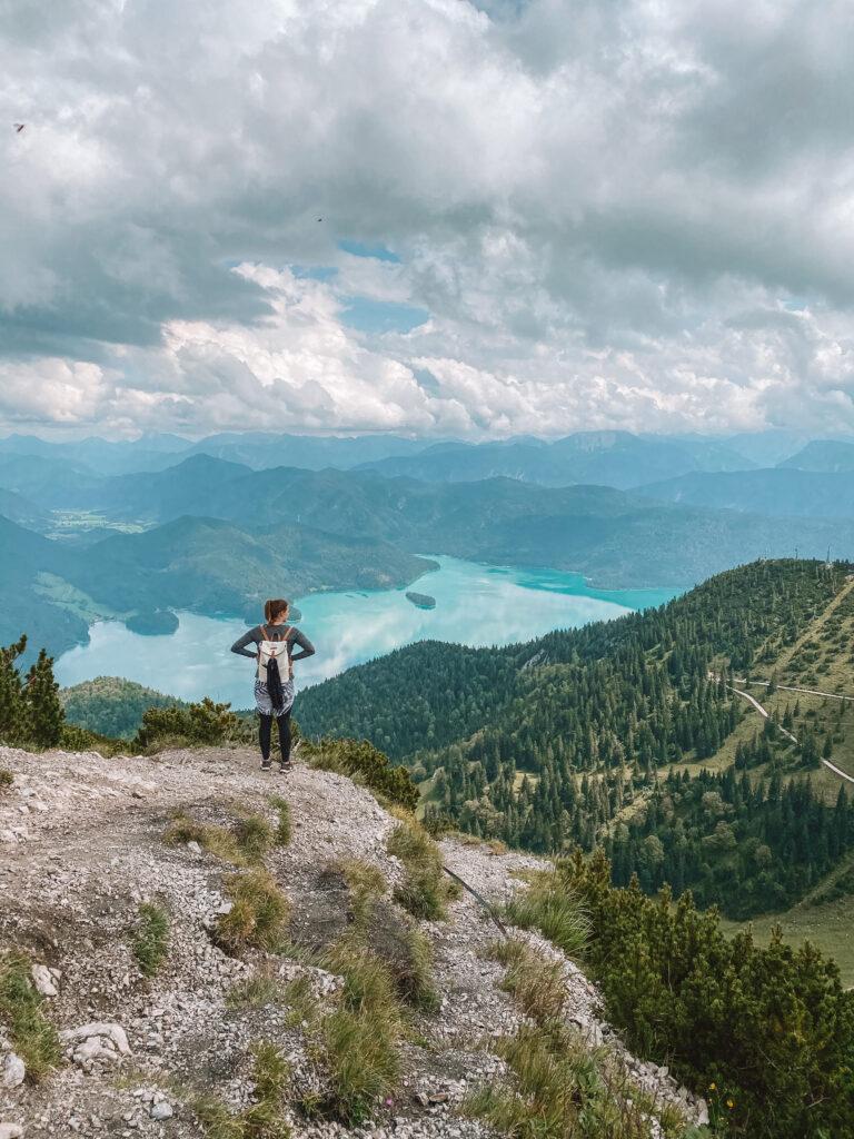 Ausblick vom Herzogstand auf Walchensee Bayern