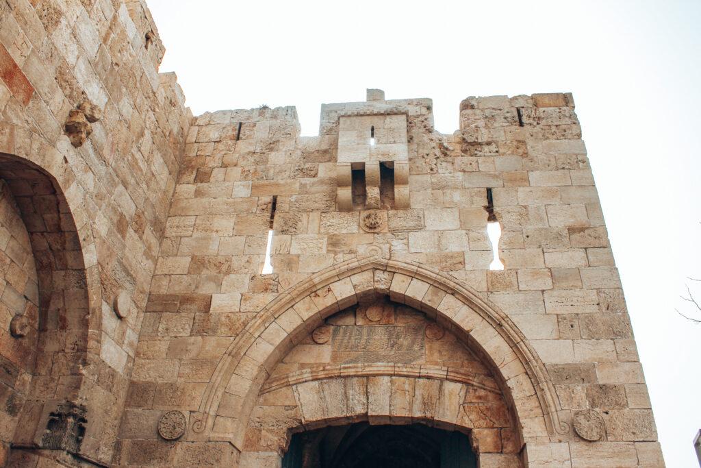 Stadtmauern-in-Jerusalem-Old-Town-Israel